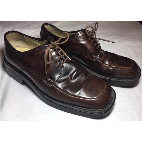 Skechers Mens Sz 10 Brown Leather Dress Shoe